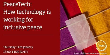 PeaceTech: How technology is working for inclusive peace tickets