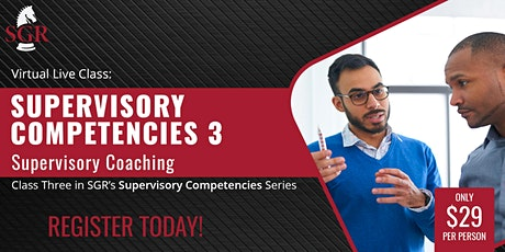 Supervisory Competencies 2021 (II) - Supervisory Coaching tickets
