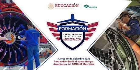 Webinar Formación de Capital Humano en el sector aeroespacial boletos