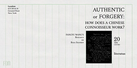 Authentic or Forgery: How does a Chinese Connoisseur work? tickets