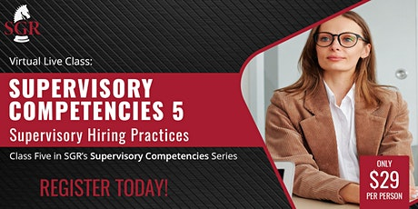 Supervisory Competencies 2021 (I) - Supervisory Hiring Practices tickets