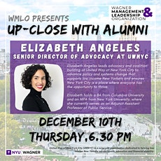 UP-CLOSE WITH ALUMNI: Elizabeth Angeles, Senior Director of Advocacy at United Way of New York City  tickets