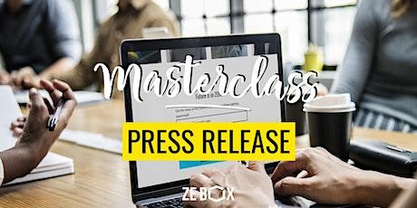 Masterclass Press Release -  Mélanie RIGAUD billets