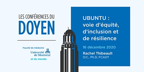UBUNTU : voie d'équité, d'inclusion et de résilience. tickets