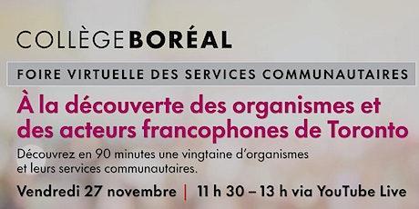 Foire virtuelle des services communautaires - Collège Boréal de Toronto tickets