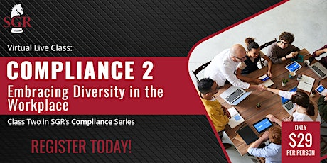 Compliance Series 2021 (I) - Embracing Diversity in the Workplace tickets