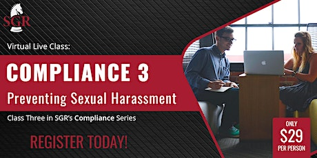 Compliance Series 2021 (I) - Preventing Sexual Harassment tickets
