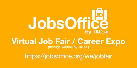 #JobsOffice Virtual Job Fair / Career Expo Event #Boston tickets