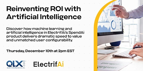 Reinventing ROI with Artificial Intelligence tickets