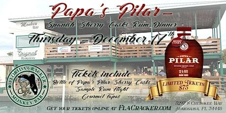 Papa's Pilar Rum Dinner @ Monkey Bar tickets