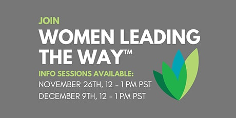 Women Leading the Way™ Information Session tickets