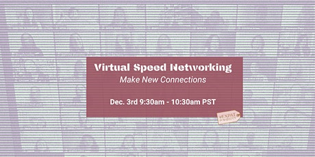Virtual Speed Networking for Professionals - Make New Connections. tickets
