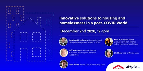 Innovative Solutions to Housing and Homelessness in a post-COVID World tickets