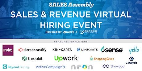 Tech Sales & Revenue Virtual Hiring Event tickets