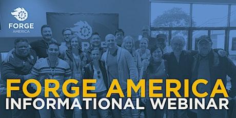 Forge America Informational Webinar - February 2021 tickets