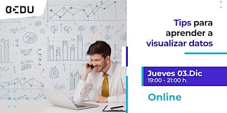Tips para aprender a visualizar datos/sesiones en vivo. entradas