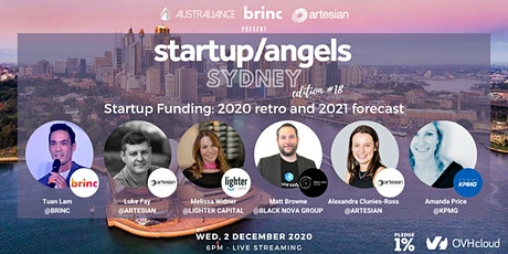 Startup&Angels Sydney #18 -  Startup Funding: 2020 retro and 2021 forecast tickets