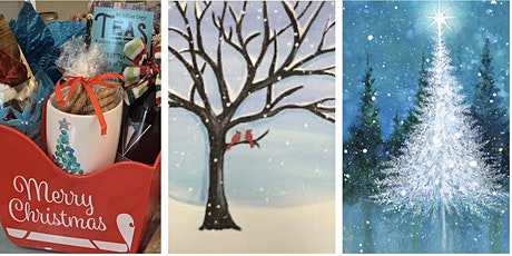 Creative Christmas- Winter Trees on Canvas tickets