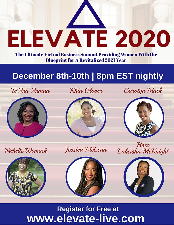 Elevate 2020  - Women's Business Telesummit image