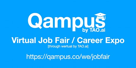 #Qampus Virtual Job Fair / Career Expo #College #University Event #Boston tickets