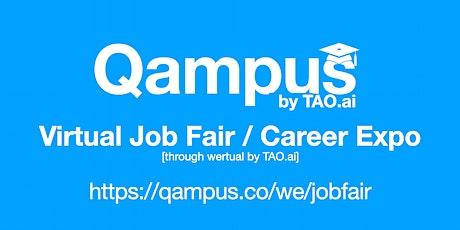 #Qampus Virtual Job Fair / Career Expo #College #University Event #Boston tickets