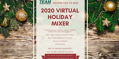 2020 VIRTUAL HOLIDAY MIXER tickets