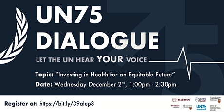 United Nations 75 Dialogue: Investing in Health for an Equitable Future tickets