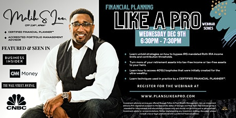 Financial Planning Like A Pro Series tickets