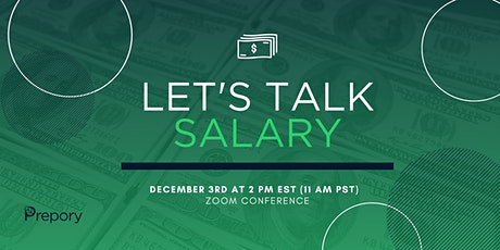 Let's Talk Salary: A Webinar on How to Negotiate Your Salary tickets