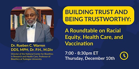 Being Trustworthy, Building Trust: A Racial Equity & Health Care Roundtable tickets