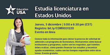 Estudia Licenciatura en Estados Unidos tickets