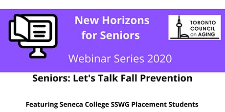 Seniors: Let's Talk Fall Prevention tickets