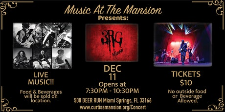 """Music at the Mansion Presents """"3RG Miami"""" Live Concert tickets"""