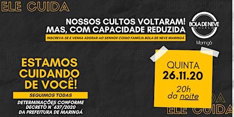 CULTO QUINTA (26/11) 20h00 ingressos