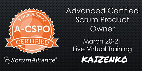 Virtual Advanced Certified Scrum Product Owner (Weekend A-CSPO) Tickets