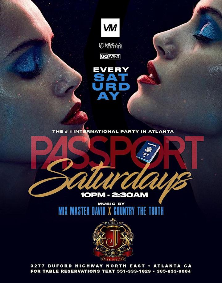 PASSPORT SATURDAYS | THE NUMBER ONE INTERNATIONAL PARTY IN ATLANTA image
