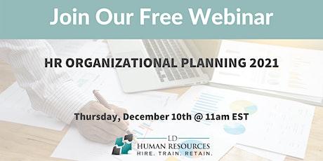 HR Organizational Planning 2021 tickets