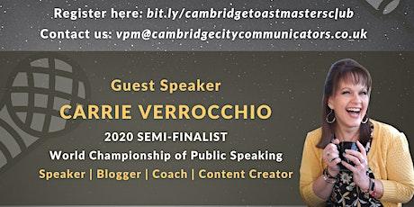 Cambridge Confident Communicators Club tickets