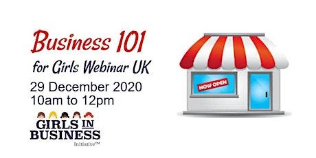 Business 101 for Girls Webinar UK
