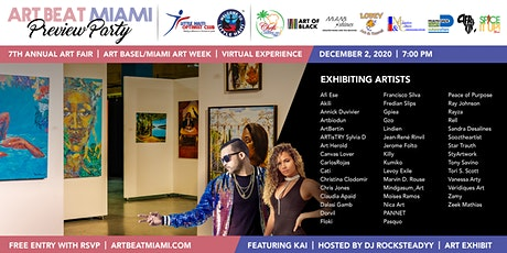 ART BEAT MIAMI Preview Party during Art Basel/Miami Art Week 2020 tickets