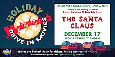Norwalk Town Square Holiday Drive-In Movie - The Santa Claus tickets