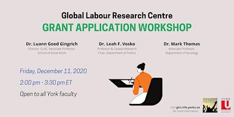 Grant Application Workshop tickets