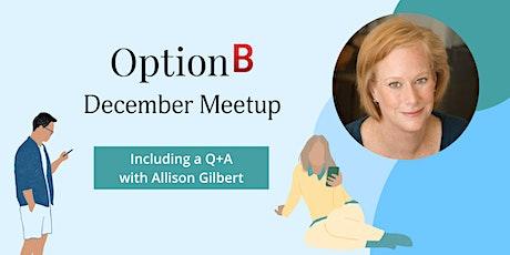 Option B December Meetup tickets