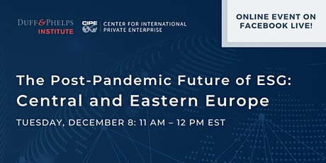 The Post-Pandemic Future of ESG: Central and Eastern Europe tickets