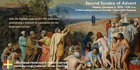 Second Sunday of Advent - Dec. 6, 2020 tickets