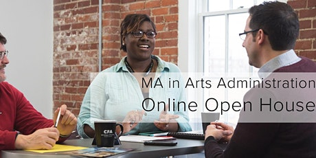 MA in Arts Administration Online Open House tickets