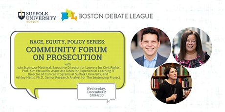 Race, Equity, Policy Series: Community Forum on Prosecution tickets