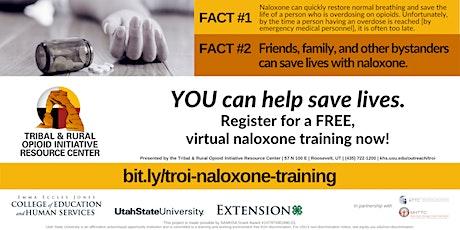 Virtual Naloxone Training tickets
