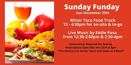 Winery Reservations (Free) Sun Nov 29th 12-2pm tickets