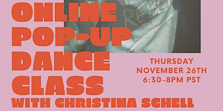 ONLINE POP-UP Dance Class with Christina Schell tickets